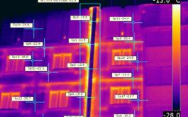 Здание в тепловизоре